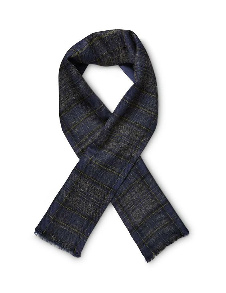 Selden wool scarf.  We have created one hundred scarves out of our unique Tartan. Tiger of Sweden.