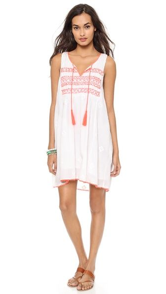 Miss June Angie Embroidered Tunic Cover Up