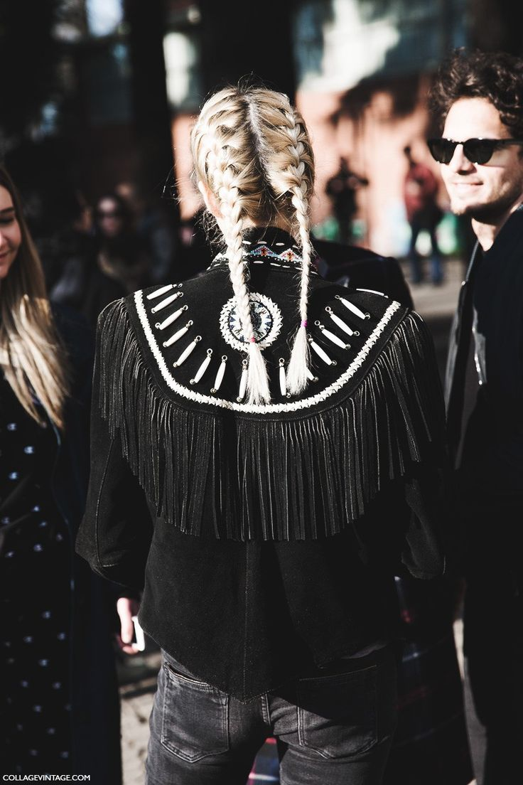 Milan_Fashion_Week-Fall_Winter_2015-Street_Style-MFW-Fringed_Jacket-Braided_Hair-