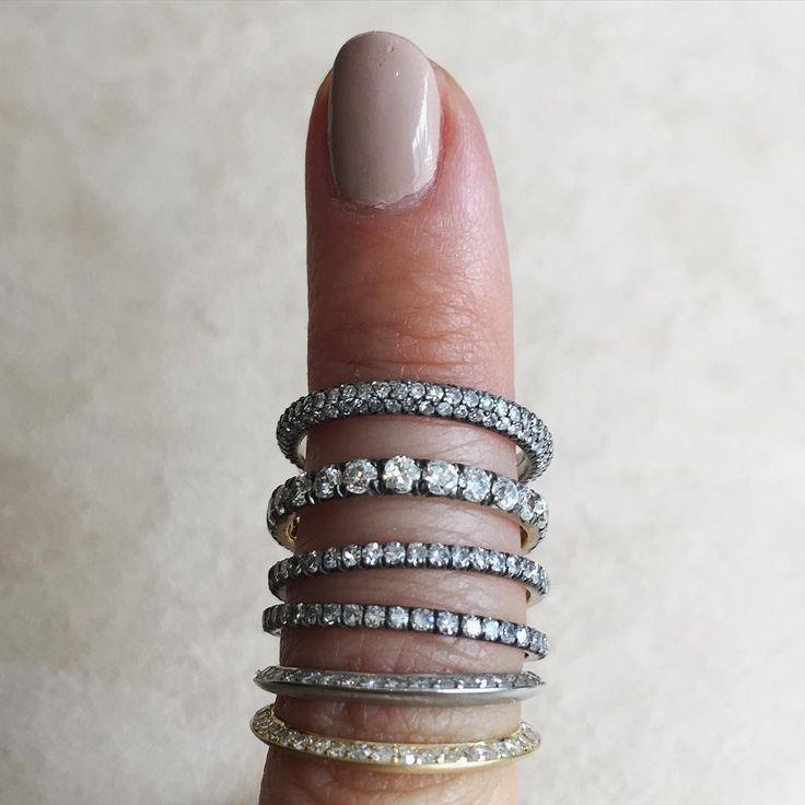 Diamond wedding bands by Erstwhile