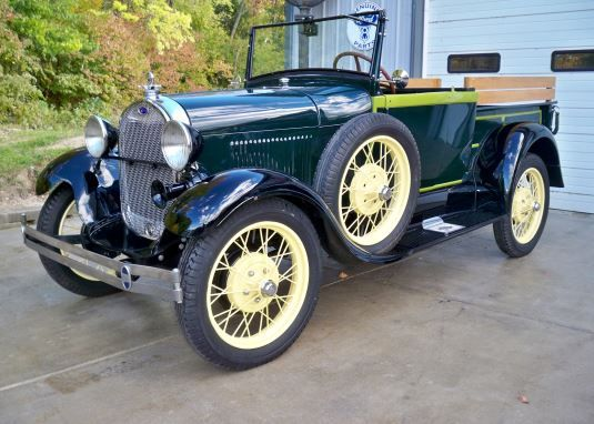 1928 Ford Model A Roadster Pickup.  This car will be featured at our Dallas Auction on November 21-23 at Dallas Market Hall.