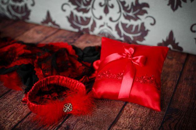hochzeit strumpfband hochzeit kissen spitze ringkissen rot strumpfband hochzeit set romantisch zubehör hochzeitsstrumpfband rot ringkissen roten roter aus spitze