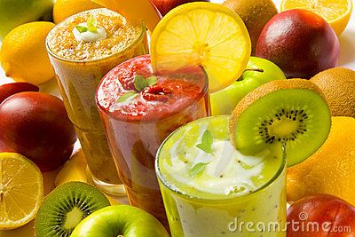 Smoothies by Inga Nielsen, via Dreamstime: Fruit Smoothie, Healthyfood, Fit Junkie, Green Smoothie, Smoothie Recipes, Healthy Recipes, Healthy Food, Weights Loss, Healthy Smoothie