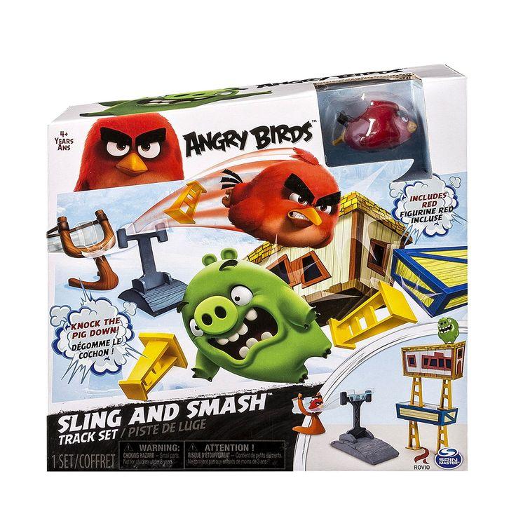 Speel Angry Birds 'offline' in je kamer! Met het spel Pig City Strike ga je exact hetzelfde doen als bij de online game, namelijk een stad vol met varkens aanvallen. Gebruik de bijgeleverde bouwonderdelen om de hele stad van de Pigs na te bouwen. Als je dat hebt gedaan, kan alle pret gaan beginnen! Plaats Angry Bird Red in de katapult en vuur hem af, zodat je zoveel mogelijk schade kan gaan aanrichten! In de speelset vind je een katapult, Angry Bird Red, 2 Pigs en verschillende…