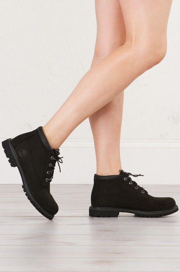 Timberland Women's Nellie Chukka Double Waterproof Boot - Black Nubuck