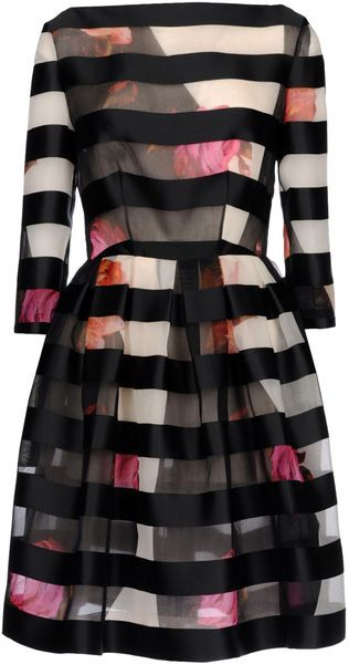 Wide stripes and floral. Gorgeous!