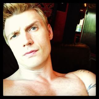 Contemplative Shirtless Nick | Community Post: 15 Different Sides To Nick Carter Through His Instagram Pics