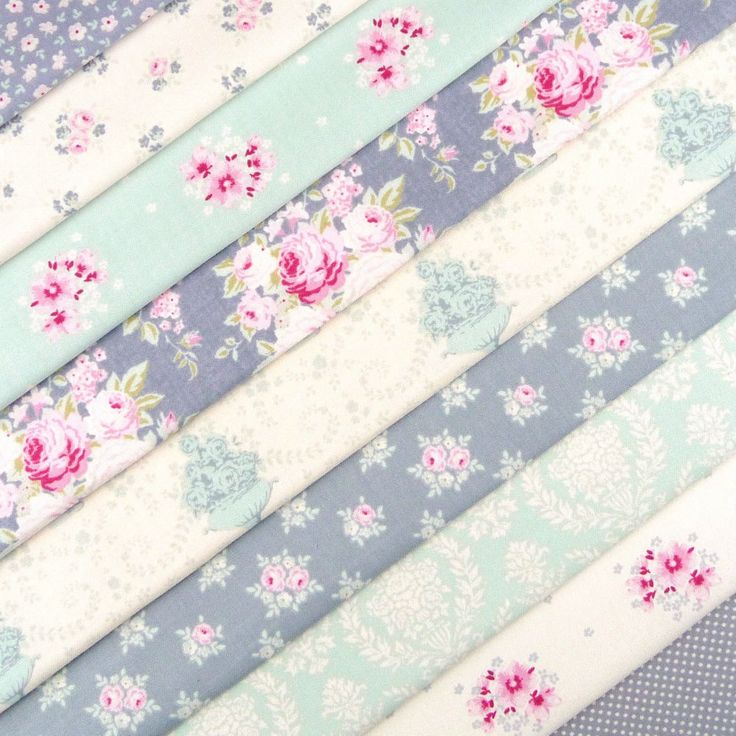 Tilda The Corner shop fabric pack x 10 / quilting rose dot duck egg blue grey in Crafts, Fabric | eBay