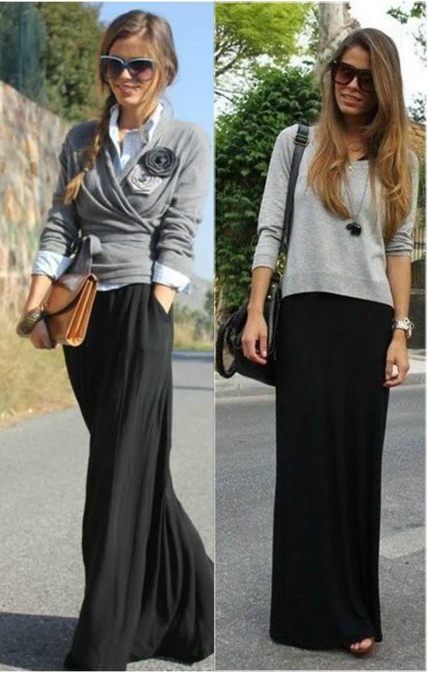 Летние длинные юбки