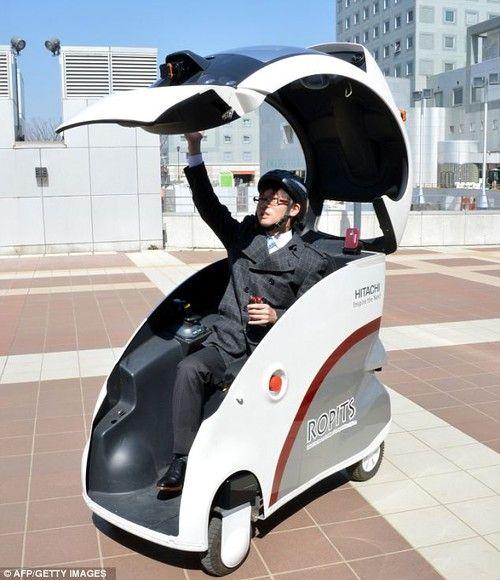 future, futuristic car, future robots, robotics, robots, robotic concept, Self-Driving Robot Cars, Robot Cars, Hitachi, ROPITS, futuristic