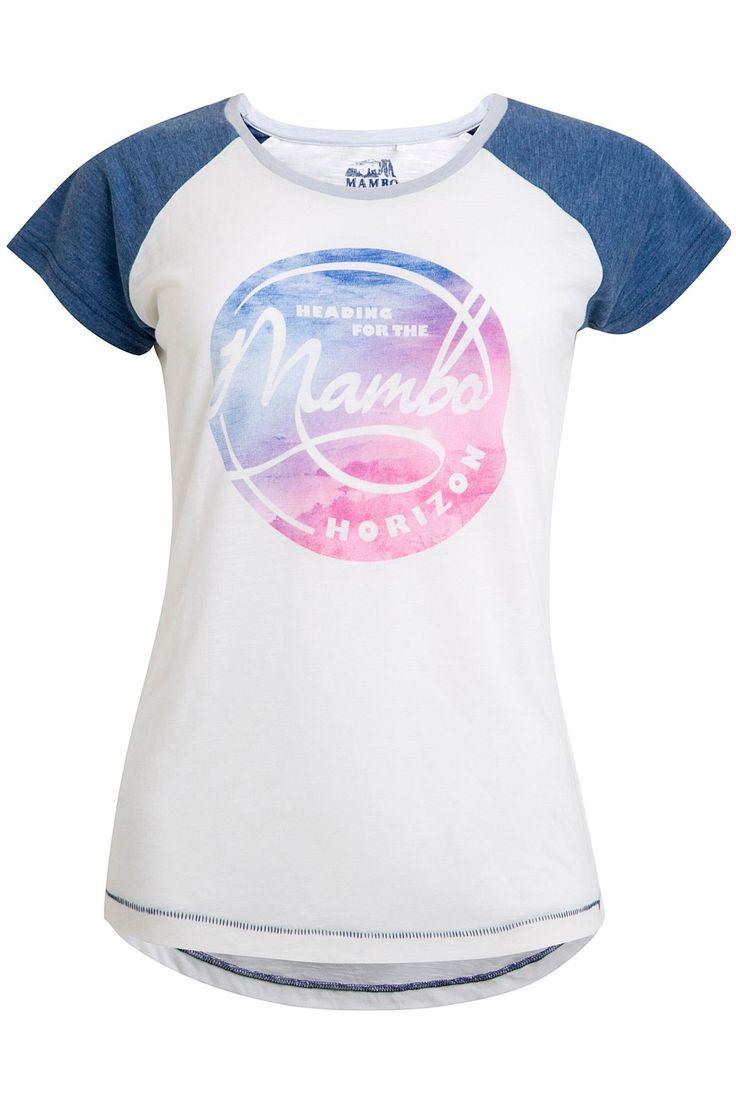 Tops - Mambo Horizon Printed Raglan Tee - BIG W