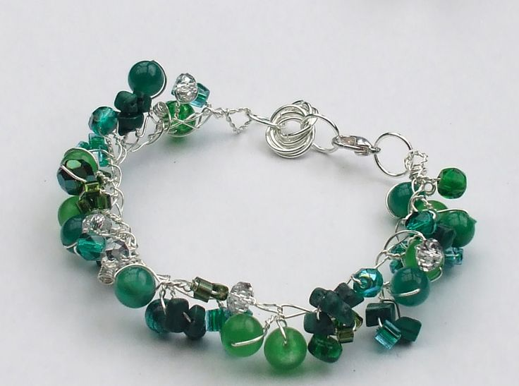 Twisted Wire and Bead Bracelet