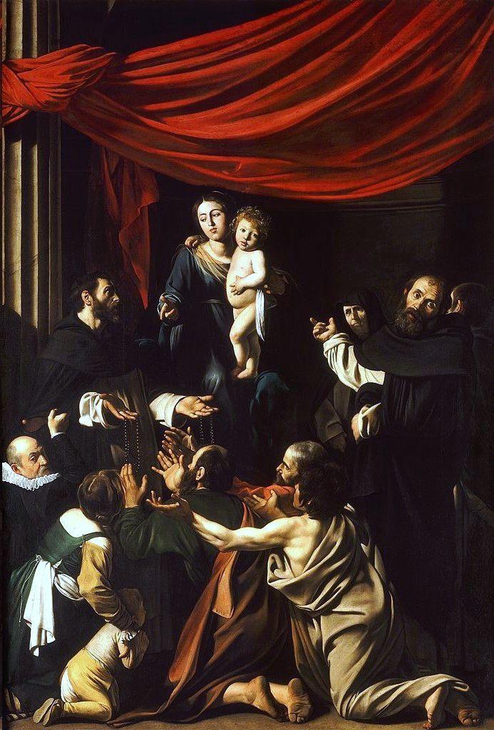 Caravaggio, Madonna of the Rosary (c. 1607)
