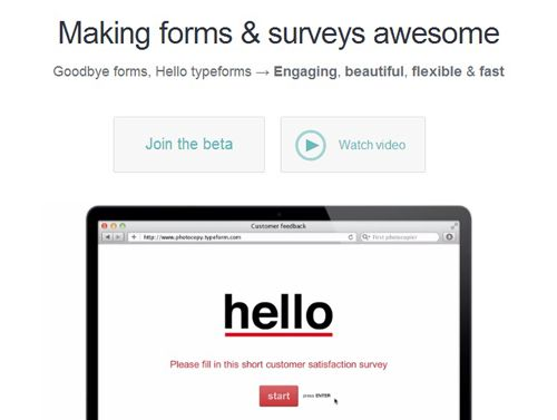 TypeForm – Easy & Highly Customizable Form Builder
