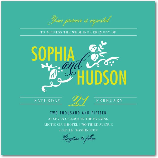 Fantastic Fronds Wedding InvitationsBay Exclusively Designed by: Stacey Day
