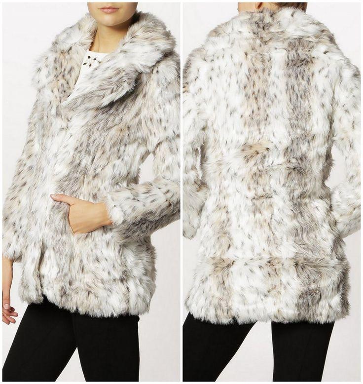 Korte Jas van Even&Odd, € 69,95   6x Faux Fur Jas   Bontjas voor winter bruiloft