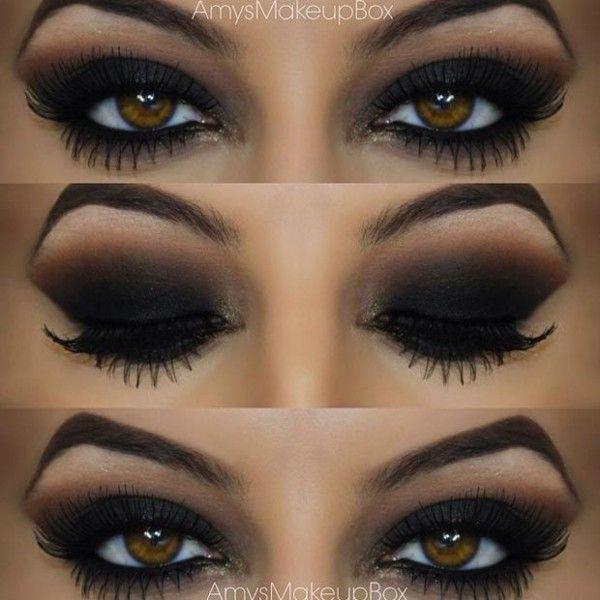 ojos ahumados negro