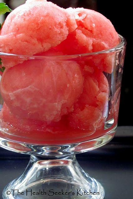Raw watermelon italian ice
