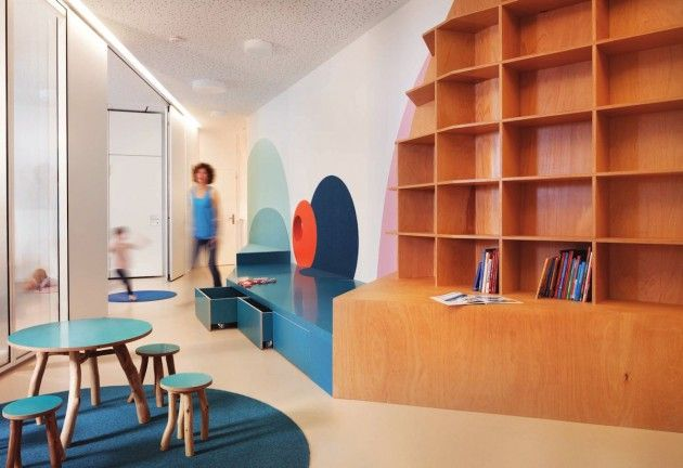 Baukind have designed a kindergarten/day care for Kita Hisa, located in Berlin, Germany.