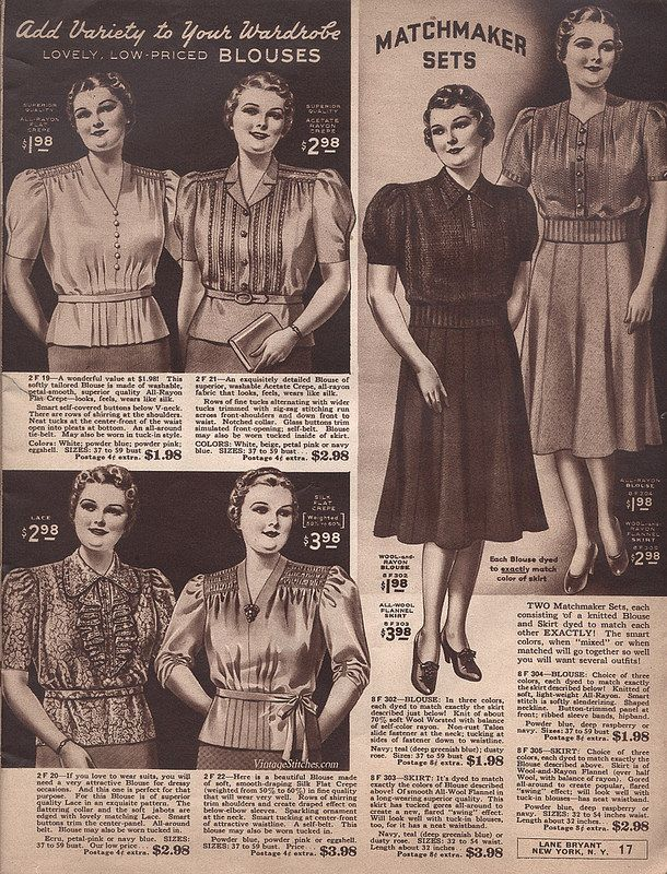 Spring and Summer 1940 Lane Bryant   VintageStitches.com