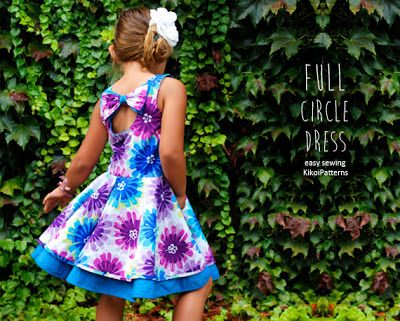Kikoi easy PDF patterns for girls toddlers and babies: Full Circle Dress pattern