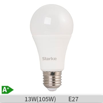 Bec LED STARKE Plus forma standard A60, 13W, E27, 30000 ore, lumina calda 3000K