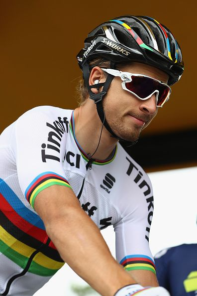 #TDF2016 Peter Sagan of Slovakia and Tinkoff at the signing in ahead of the 184km stage eight of Le Tour de France from Pau to BagneresDeLuchon on July 9 2016...