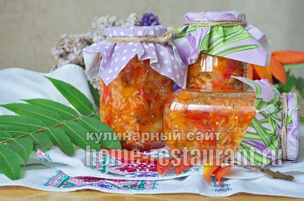 Салат из баклажанов на зиму с рисом фото_16
