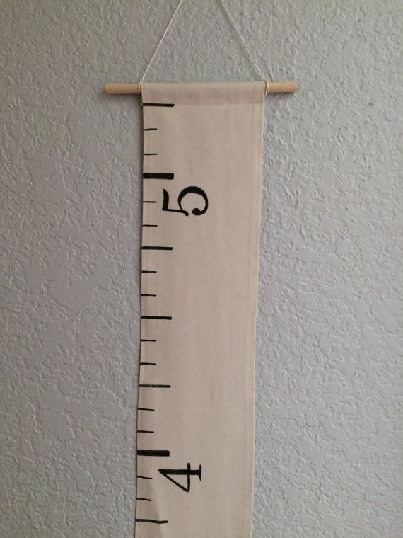 SALE Fabric Growth Chart: Cream/Off-White Canvas by TheWhiteLoft