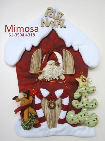 Projeto Casinha de Natal com Papai Noel e Rena