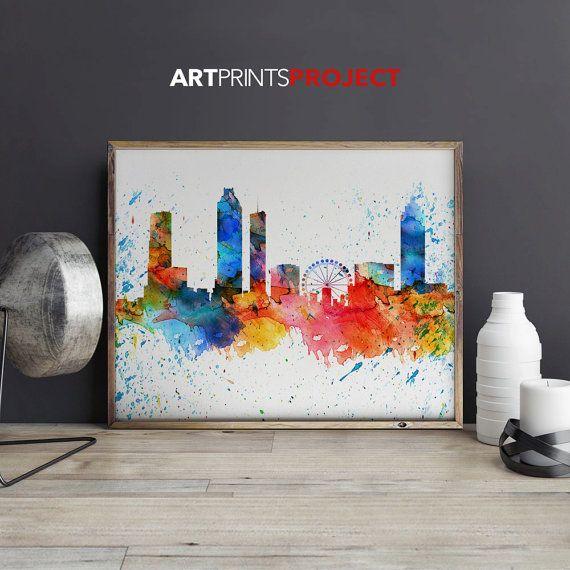 Atlanta art print poster Poster Wall art by ArtPrintsProject