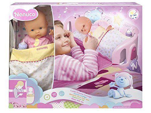 Famosa 700007431 - Nenuco Dorme con Me - Bambola con lettino a sponda