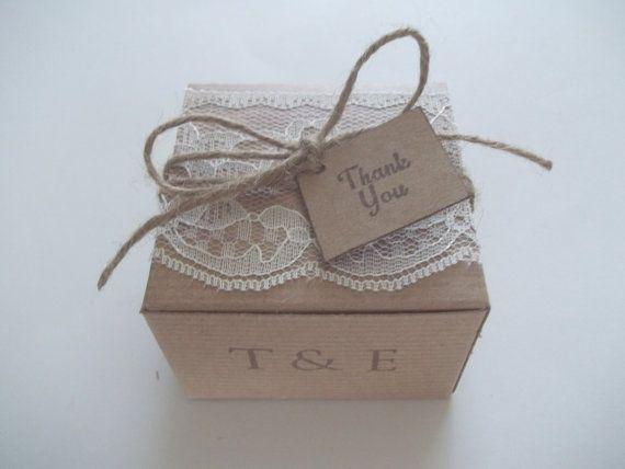 Wedding lace box bridal favor box wedding favor box DIY country chic will you be my bridesmaid