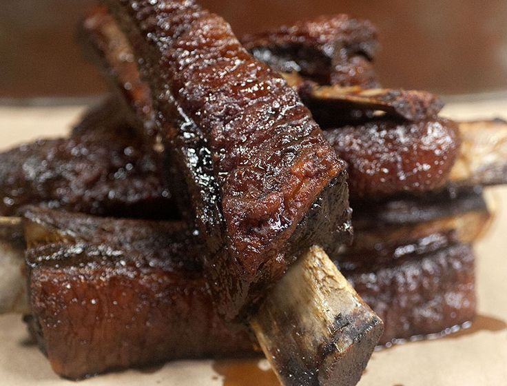 Tom Mylan's Dinosaur Ribs from AndrewZimmern.com  I have been wanting to try making beef ribs I may give these a shot.