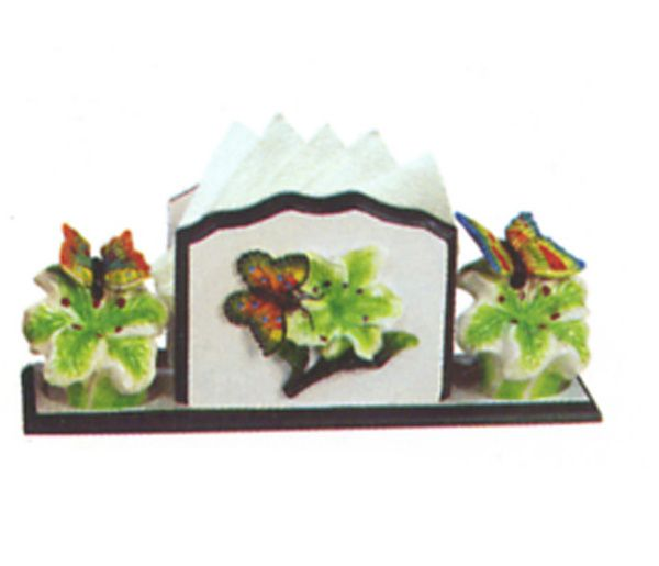 Butterfly Kitchen Decor Themes Butterfly Napkin Holder Salt And Pepper Shakers 4442