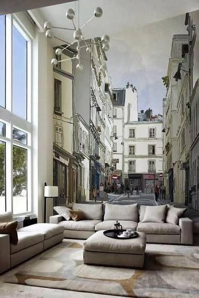 street scene backdrop