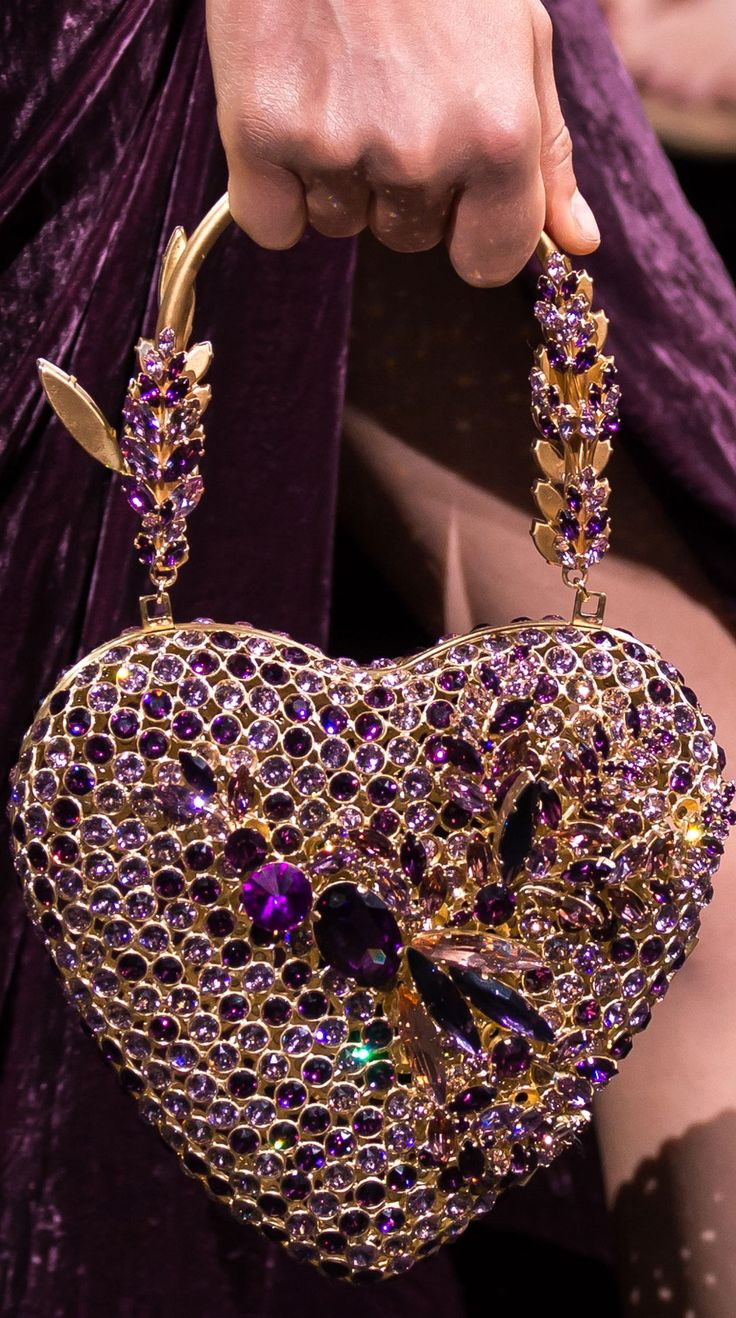 "Elie Saab Fall 2016 Couture My beautiful irredescent ""Heart Purse"""