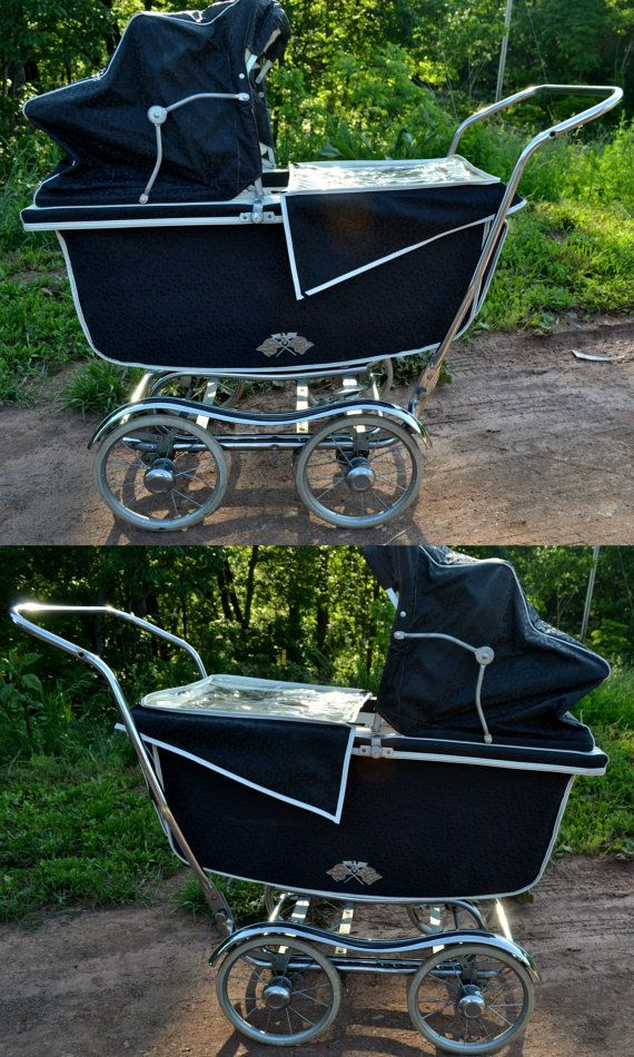 I love these old prams... if I had the room I'd leave one by the front door and fill it with hats, scarves, coats, umbrellas, etc.    Baby Carriage Babyhood WondaChair High Chair by RibbonsAndRetro, $499.00: Baby Kocsik, Babyhood Wondachair, Babies, Baby Prams, Baby Strollers, Carriage Babyhood