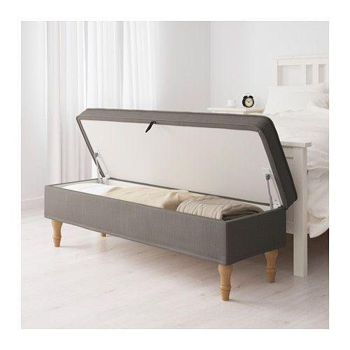 STOCKSUND Bench - Nolhaga gray-beige, light brown - IKEA