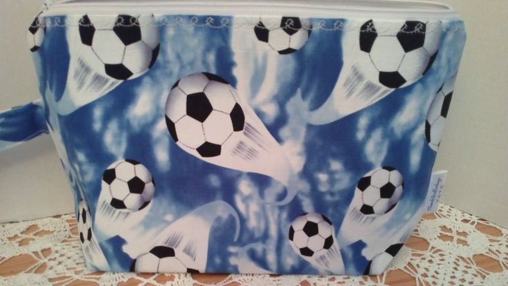 Soccer bag, Zipper bag, Ball bag, Medium bag, Project bag, Cotton bag by ThankGodforBags on Etsy