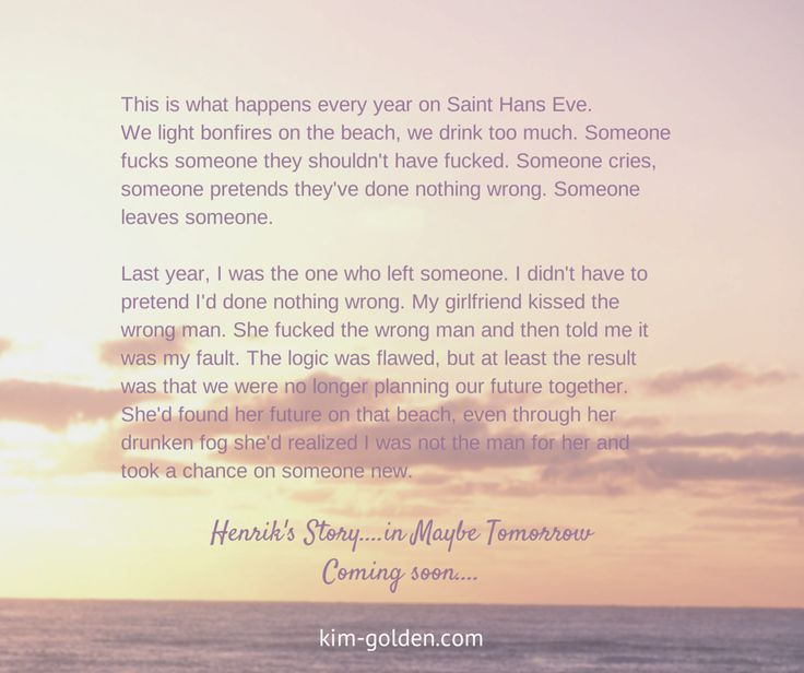 An excerpt from Maybe Tomorrow, coming soon...