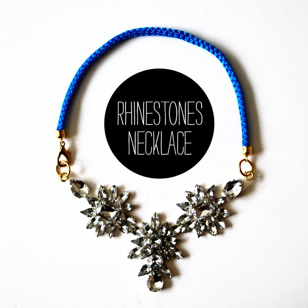 Shourouk Inspired Rhinestone Necklace   http://www.macted.ro/shourouk-inspired-rhinestone-necklace/