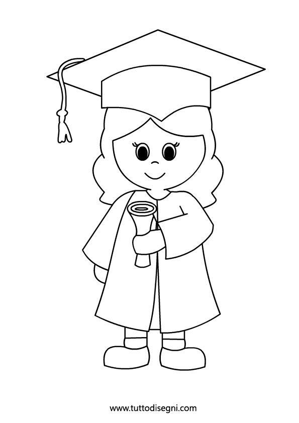 Bambina con diploma - Fine Anno Scolastico - Tutto Disegni