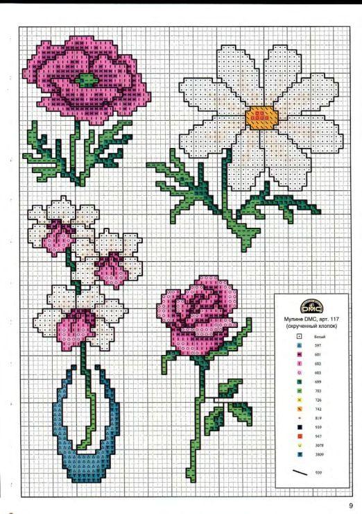 Gallery.ru / Фото #54 - Вышиваем крестом цветы, букеты, деревья - tymannost