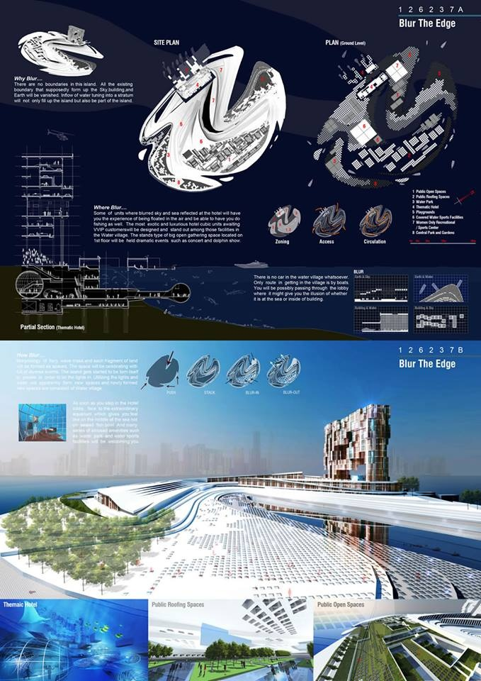 [A3N] : Water Village in Sharjah Competition 2012 ( 2nd Prize : Blue The Edge ) / Stefan Hofer , Matthias Stippich , Esteban Pacheco ( Germany )
