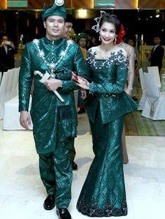 songket wedding dress - Google Search