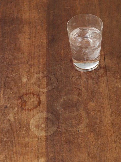 Mayonnaise: Treat Water Rings on Wood