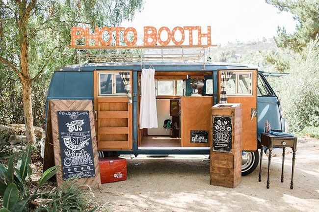 VW bus photo booth - turn an all-day transport rental into a photo booth when you're not using it