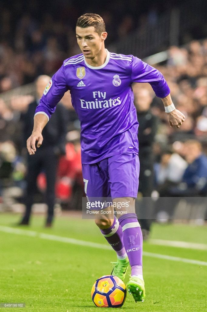 Cristiano Ronaldo of Real Madrid in action during their La Liga match between Valencia CF and Real Madrid at the Estadio de Mestalla on 22 February 2017 in Valencia, Spain.