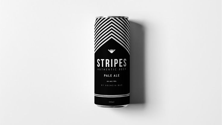 Stripes Authentic Beer on Packaging of the World - Creative Package Design Gallery